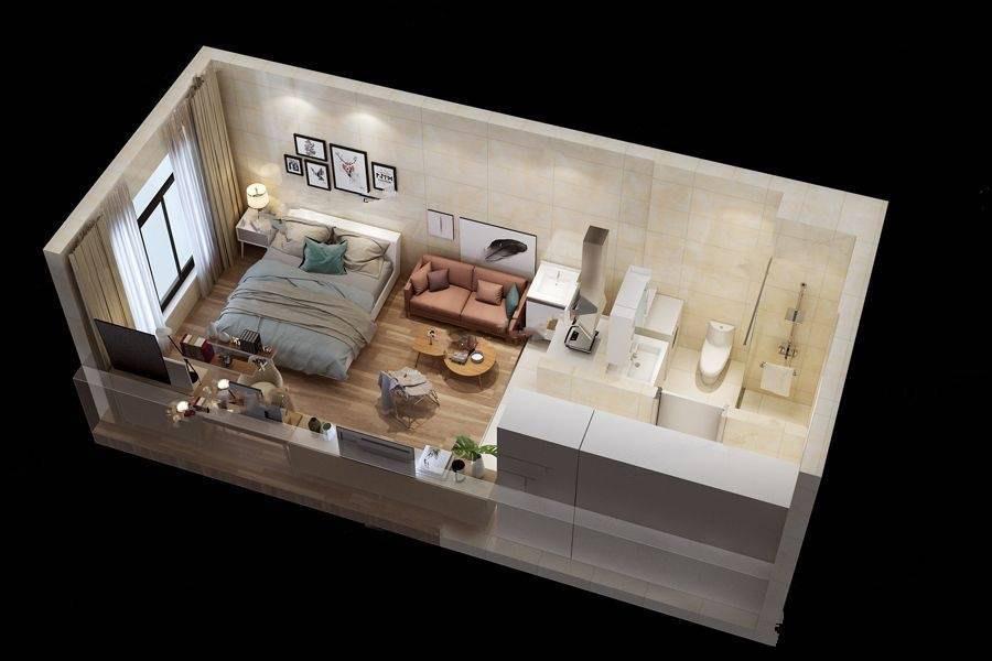 平层公寓A户型图