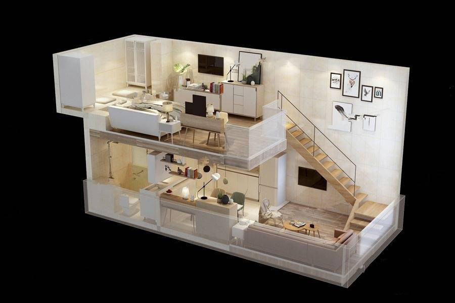 LOFT公寓B户型图