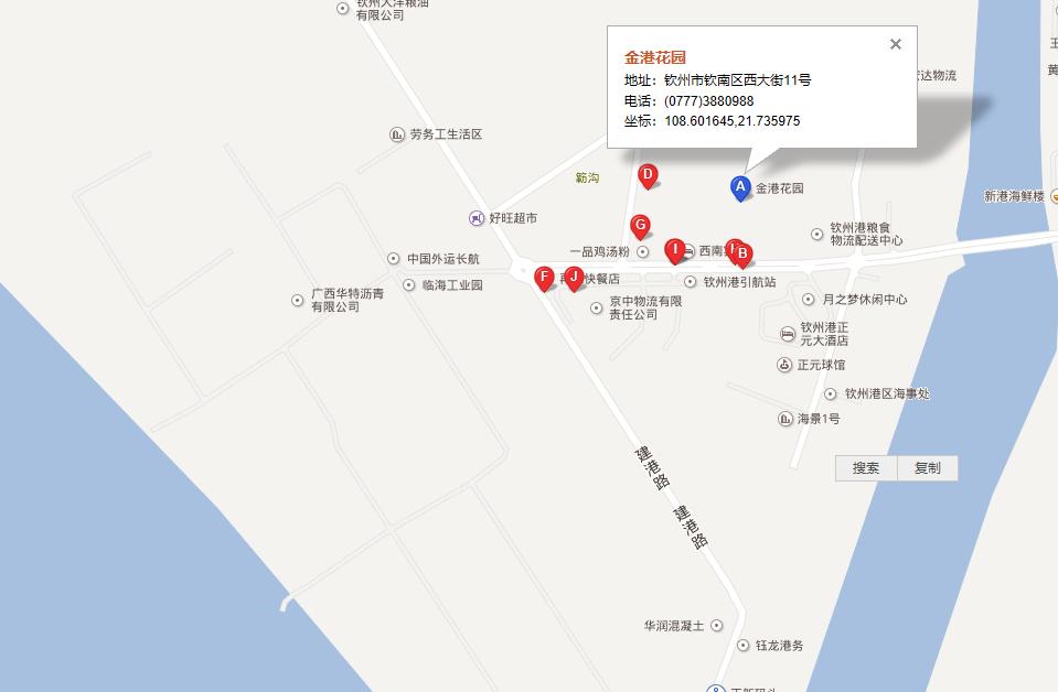 金港花园交通图
