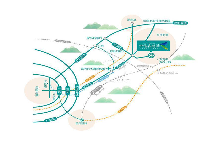中信嘉丽泽交通图