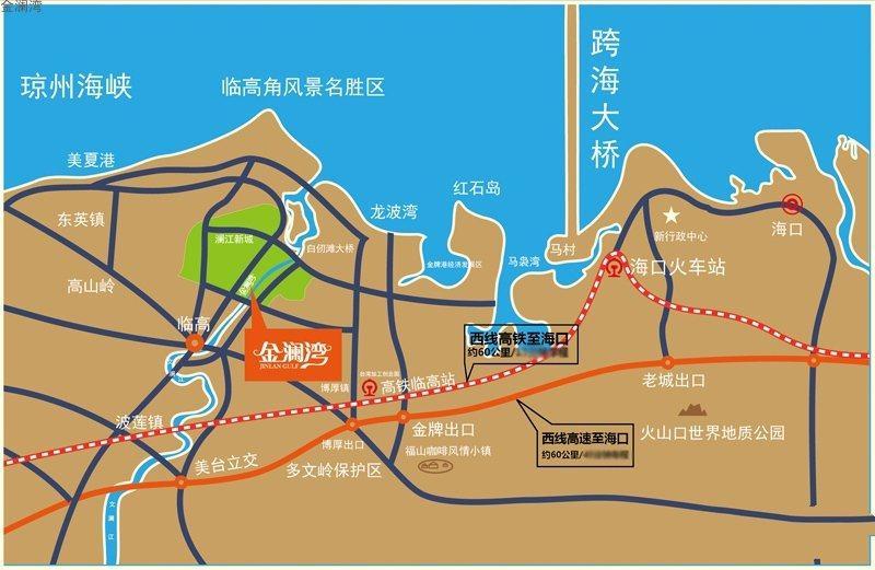 金澜湾交通图