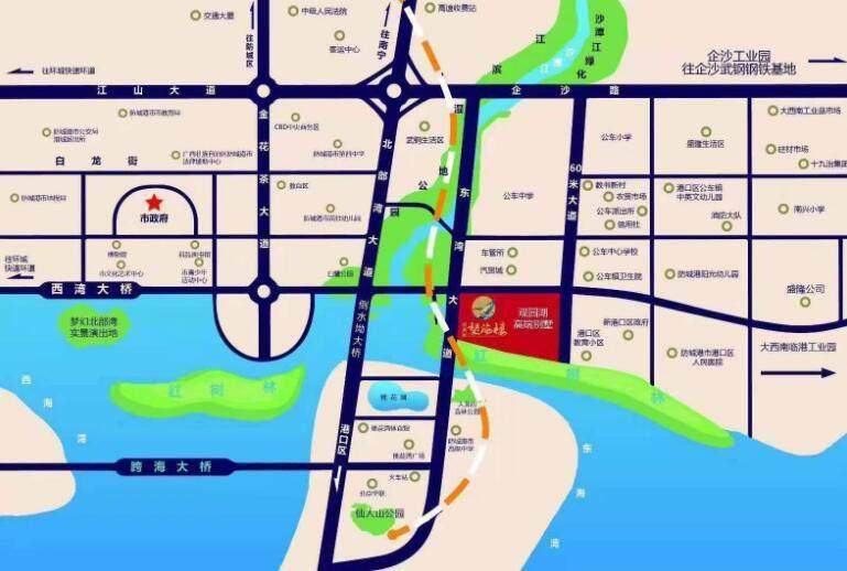 观湖园望海楼交通图