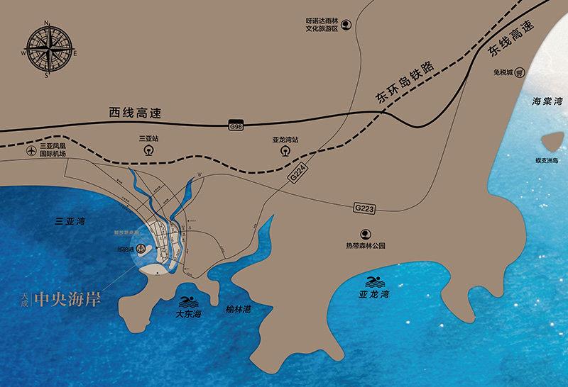 天成中央海岸区位图