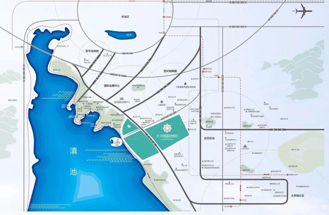 中国滇池花田国际度假区交通图