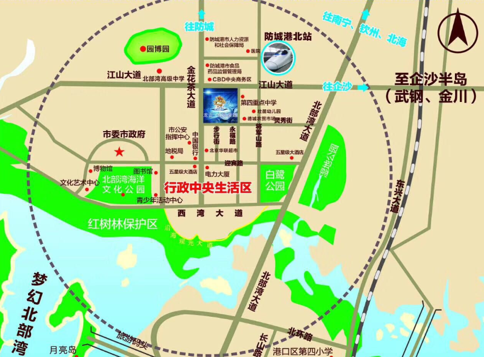正龙铭凯豪庭交通图